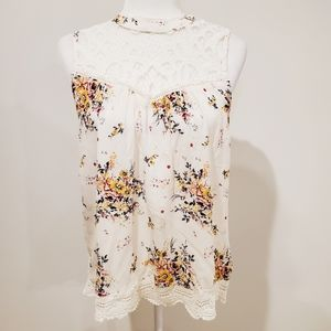 Altar'd State Floral and Lace Top